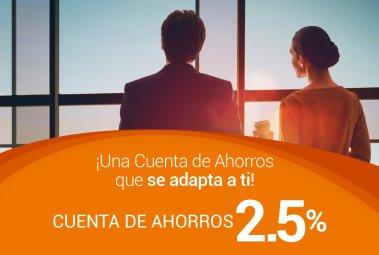 Cuenta de Ahorro 2.5%