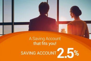 Saving Account 2.5%