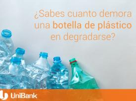 Una botella de plástico demora hasta 1000 años en degradarse