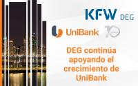 DEG continúa apoyando el crecimiento de UniBank