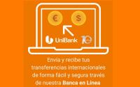 Transferencias Internacionales en euros y dólares - Banca en Línea UniBank