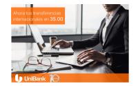 Transferencias Internacionales en 35.00 Unibank